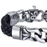 Bracelet cuir acier homme ; votre top 9 TOP 1 image 3 produit