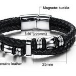 Bracelet cuir acier homme ; votre top 9 TOP 4 image 1 produit
