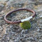 Bracelet cuir torsadé et fermoir acier pour homme Marron de la marque Atelier de Famille image 2 produit