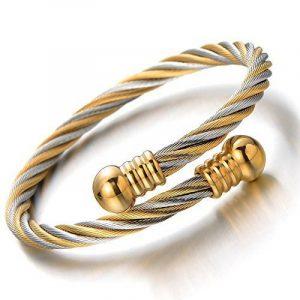 Bracelet cuir torsadé homme, acheter les meilleurs produits TOP 1 image 0 produit