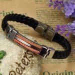 Bracelet cuir torsadé homme, acheter les meilleurs produits TOP 7 image 2 produit