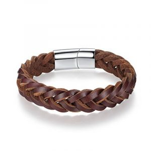 Bracelet cuir tressé homme : notre top 5 TOP 1 image 0 produit
