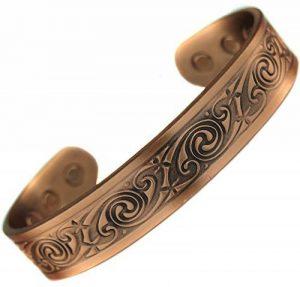 Bracelet Cuivre 6 Aimant 3000g Celte Celtic Tribal homme femme 19,5 cm de la marque topt mag image 0 produit