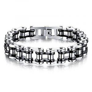 Bracelet en acier inoxydable pour homme Bracelet en chaîne pour cycliste moto Bracelet Cool Link Rock Band de Jerocal, 8,4 pouces de la marque Jeracol image 0 produit