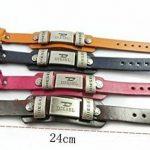 Bracelet en Cuir Véritable Naturel, Plaqué Chrome Vintage, Unisex de la marque Coquelicot et Coccinelle image 1 produit