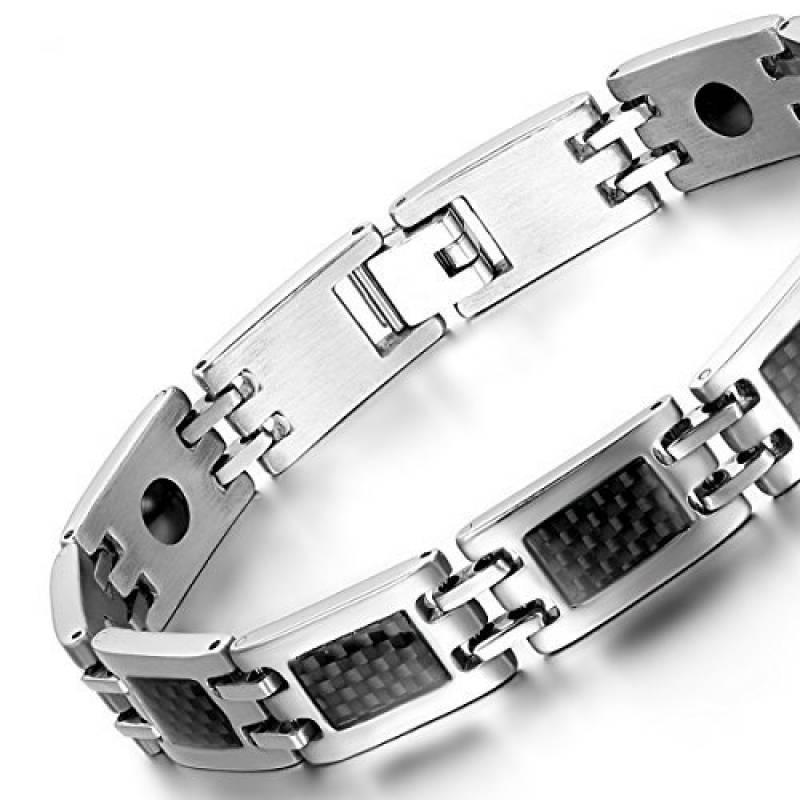 1145eb238d3 Intro. Ayant 3 avis et une notation de 3.7 étoiles cette bracelet homme  acier carbone est envoyé par Oidea ...
