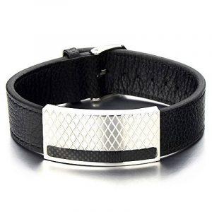 Bracelet homme acier carbone ; faites des affaires TOP 10 image 0 produit