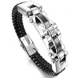 Bracelet homme acier carbone ; faites des affaires TOP 2 image 0 produit