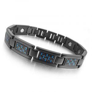 Bracelet homme acier carbone ; faites des affaires TOP 7 image 0 produit