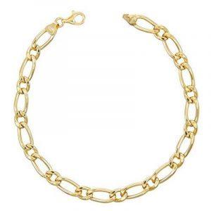 Bracelet Homme Maille Figaro Alternée 1+1 - Or Jaune Véritable - Homme de la marque L'Atelier d'Azur image 0 produit