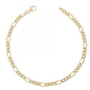 Bracelet Homme Maille Figaro Alternée 1+3 - Or Jaune Véritable - Homme de la marque L'Atelier d'Azur image 0 produit