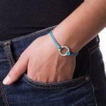 Bracelet Jeton à Graver en Argent avec Cordon Bleu! de la marque Bijoux Personnalisés image 1 produit