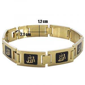 ☪ Bracelet Plaqué Or Calligraphie Islamique Allah de la marque Religion Musulmane image 0 produit