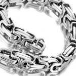 Bracelet pour homme acier inoxydable argenté d'Urban Jewlelry 21,5 cm (avec boîte cadeau de marque) de la marque Urban-Jewelry image 2 produit