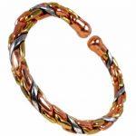 Bracelet pour Homme ou Femme Magnétique Torsadé en Cuivre, Laiton et Aluminium + Bague - Bague M : 19-21mm de la marque The Online Bazaar image 4 produit