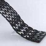Bracelets de ceinture de montre modifiables de 23mm pour hommes Bandes de montre en métal noir de haute qualité en acier inoxydable de la marque AUTULET image 5 produit