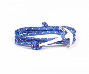 BS - Bracelet Ancre Marine - Mixte - Cordage de Voile Bleu & Ancre en Métal Argenté de la marque BS image 0 produit