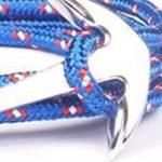 BS - Bracelet Ancre Marine - Mixte - Cordage de Voile Bleu & Ancre en Métal Argenté de la marque BS image 1 produit
