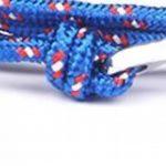 BS - Bracelet Ancre Marine - Mixte - Cordage de Voile Bleu & Ancre en Métal Argenté de la marque BS image 2 produit