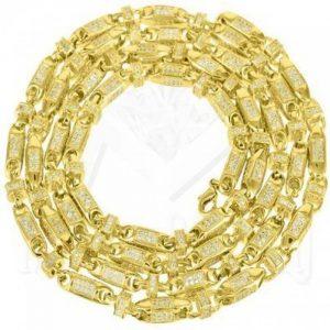 Bullet Link Chaîne pour homme Lab Diamant 14K Finition dorée pour homme Chaîne 88,9cm de la marque Diamond & Co image 0 produit