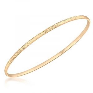 Carissima 9 ct White Gold 2.6 mm Textured Bangle de la marque Carissima Gold image 0 produit