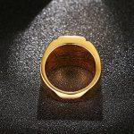 CARTER PAUL Hommes Tendance personnalité bague en acier rouge incrusté zircon de la marque CARTER PAUL image 4 produit