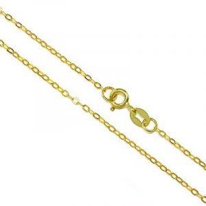 Chaîne Mailles Forçat en Argent Plaqué Or Jaune - 41 à 56cm de la marque JewelleryBox image 0 produit