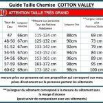 Chemisette Manches Courtes Col Mao Noire Cotton Valley du 2XL au 8XL de la marque Cotton Valley image 1 produit