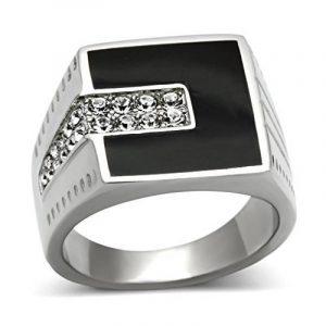 Chevaliere homme argent diamant ; faites des affaires TOP 11 image 0 produit