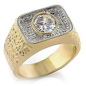 Chevaliere homme or blanc avec diamant, le top 13 TOP 0 image 0 produit