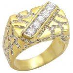 Chevaliere homme or blanc avec diamant, le top 13 TOP 1 image 2 produit