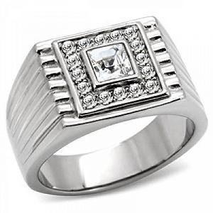 Chevaliere homme or blanc avec diamant, le top 13 TOP 11 image 0 produit