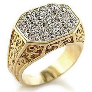 Chevaliere homme or blanc avec diamant, le top 13 TOP 7 image 0 produit