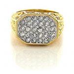 Chevaliere homme or blanc avec diamant, le top 13 TOP 7 image 1 produit