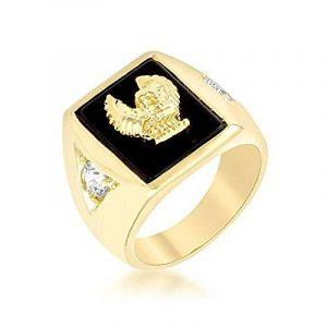 Chevaliere homme or blanc avec diamant, le top 13 TOP 9 image 0 produit