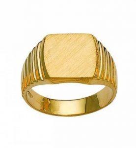 chevalière or jaune 18 carats - 750/1000 homme 18k Gold de la marque chevalière image 0 produit