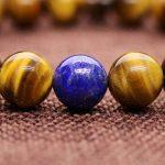 COAI® 10mm Bracelet Mala Reiki Perles Pierres Véritables Œil de tigre Jaune Lapis Lazuli Cordon Élastique Bon Choix Pour Homme 16-18cm de la marque coai image 3 produit