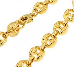Collier Chaine lourd Grain de Café or doublé 10/000, 10mm longueur au choix, femme homme collier bijoux cadeaux de italien usine tendenze de la marque tendenze-ITALY image 0 produit