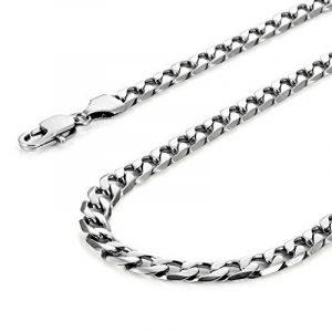 Collier classique pour homme En acier inoxydable 316L Argenté 46, 54, 59cm (6mm) de la marque Urban-Jewelry image 0 produit