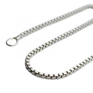 Collier de chaîne délicate chaîne vénitienne en argent 925 pendentif longueur de chaîne 60 cm Largeur 1 mm de la marque unbespielt image 0 produit