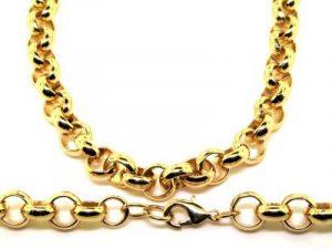 Collier homme - plaqué or 24 carats - Grosse chaîne forçat Hip Hop Bling, 10mm de la marque The Bling King image 0 produit