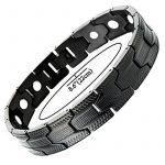 Conception Exquise - Acier Inoxydable Bracelet Homme Noir - Aimants - Outil de Suppression de Lien Inclus de la marque H+C image 1 produit