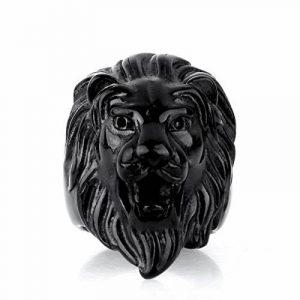 COPAUL Bijoux Bague Homme Lion Head,Acier Inoxydable Anneaux de la marque COPAUL image 0 produit