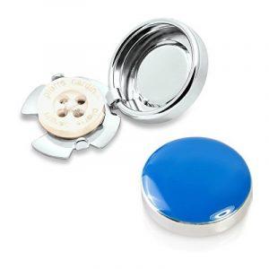 Couvre Boutons Bleu - l'alternative aux Boutons de Manchette pour Chemises Régulières de la marque The Button Cuff image 0 produit