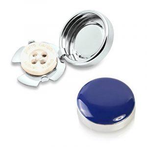 Couvre Boutons Bleu Marin - l'alternative aux Boutons de Manchette pour Chemises Régulières de la marque ButtonCuff image 0 produit