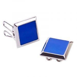 Couvre Boutons Carré Bleu - l'alternative aux Boutons de Manchette pour Chemises Régulières de la marque The Button Cuff image 0 produit