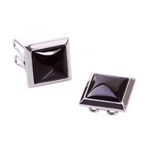 Couvre Boutons Carré Noir - l'alternative aux Boutons de Manchette pour Chemises Régulières de la marque The Button Cuff image 0 produit
