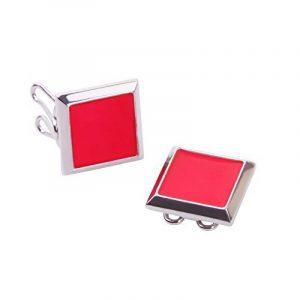 Couvre Boutons Carré Rouge - l'alternative aux Boutons de Manchette pour Chemises Régulières de la marque The Button Cuff image 0 produit