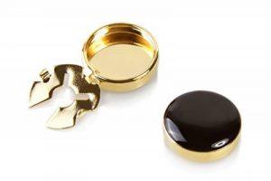 Couvre Boutons Or et Noir - l'alternative aux Boutons de Manchette pour Chemises Régulières de la marque The Button Cuff image 0 produit