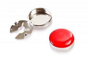 Couvre Boutons Rouge - l'alternative aux Boutons de Manchette pour Chemises Régulières de la marque ButtonCuff image 0 produit